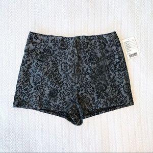 UO Pins & Needles Jacquard High Waist Shorts